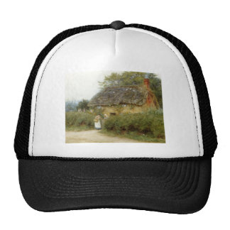 Cottage With Sunflowers Trucker Hat