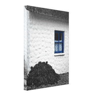 Cottage with Turf Wrapped Canvas