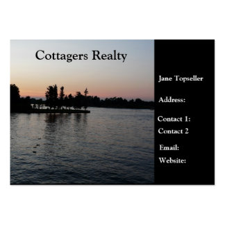 Cottagers Realty-Real Estate Large Business Cards (Pack Of 100)
