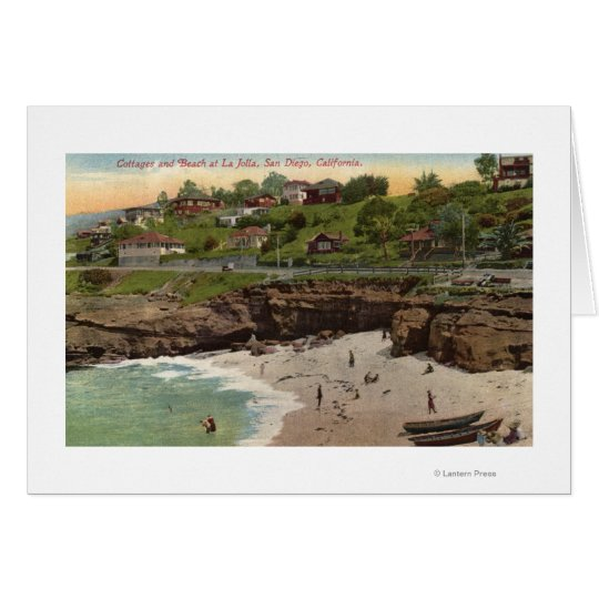 Cottages and Beach at La Jolla Card