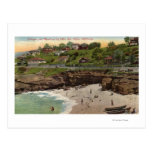Cottages and Beach at La Jolla Postcard