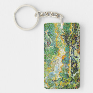 Cottages and Cypresses Reminiscence of the North Keychain