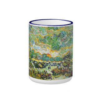 Cottages and Cypresses Reminiscence of the North Ringer Mug