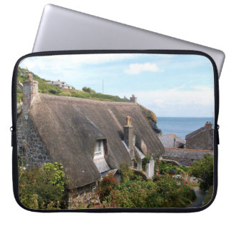 Cottages at Cadgwith Cornwall Photograph Computer Sleeve
