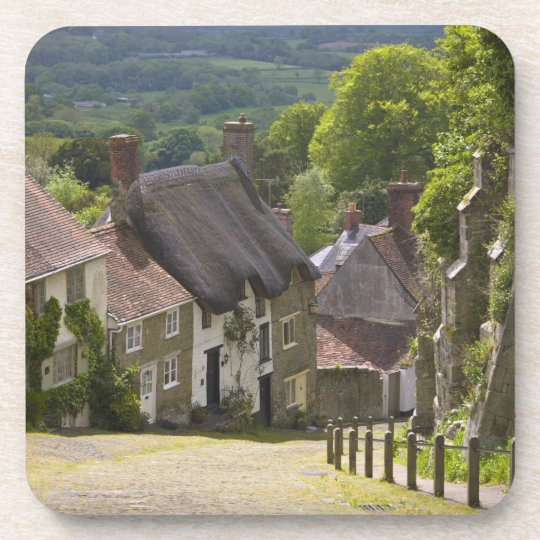 Cottages at Gold Hill, Shaftesbury, Dorset, Beverage Coaster