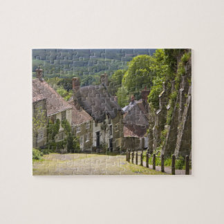 Cottages at Gold Hill, Shaftesbury, Dorset, Jigsaw Puzzle