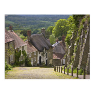 Cottages at Gold Hill Shaftesbury Dorset Post Card