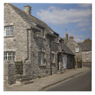 Cottages, Corfe Castle village, Dorset, England, Tile
