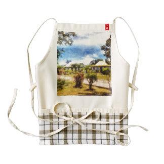 Cottages in a landscape zazzle HEART apron