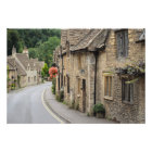 Cottages in Castle Combe, UK photo print