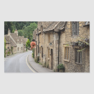 Cottages in Castle Combe, UK rectangle sticker