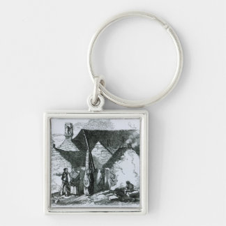 Cottages of the Peasantry in the West of Ireland Keychain