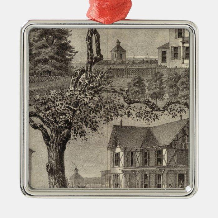 Cottages of WC Hamilton, Spring Lake, NJ Metal Ornament