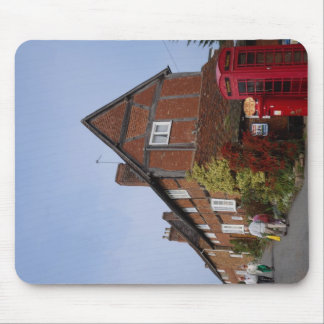 Cottages, old phone box, Kenilworth, Warwickshire, Mousepads