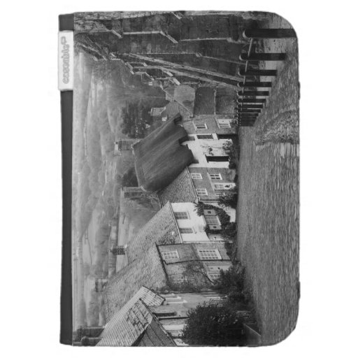 Cottages on a golden hill, Shaftesbury, Dorset, En Kindle Folio Case