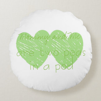 Cotton Baby Mommy and Me Custom Round Throw Pillow