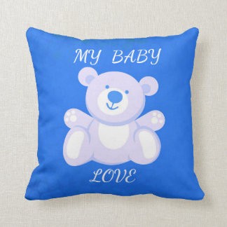 Cotton Baby My Baby Love Custom Throw Pillow