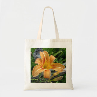 Cotton Bag With Orange Daylily-Tiger Lily Flower