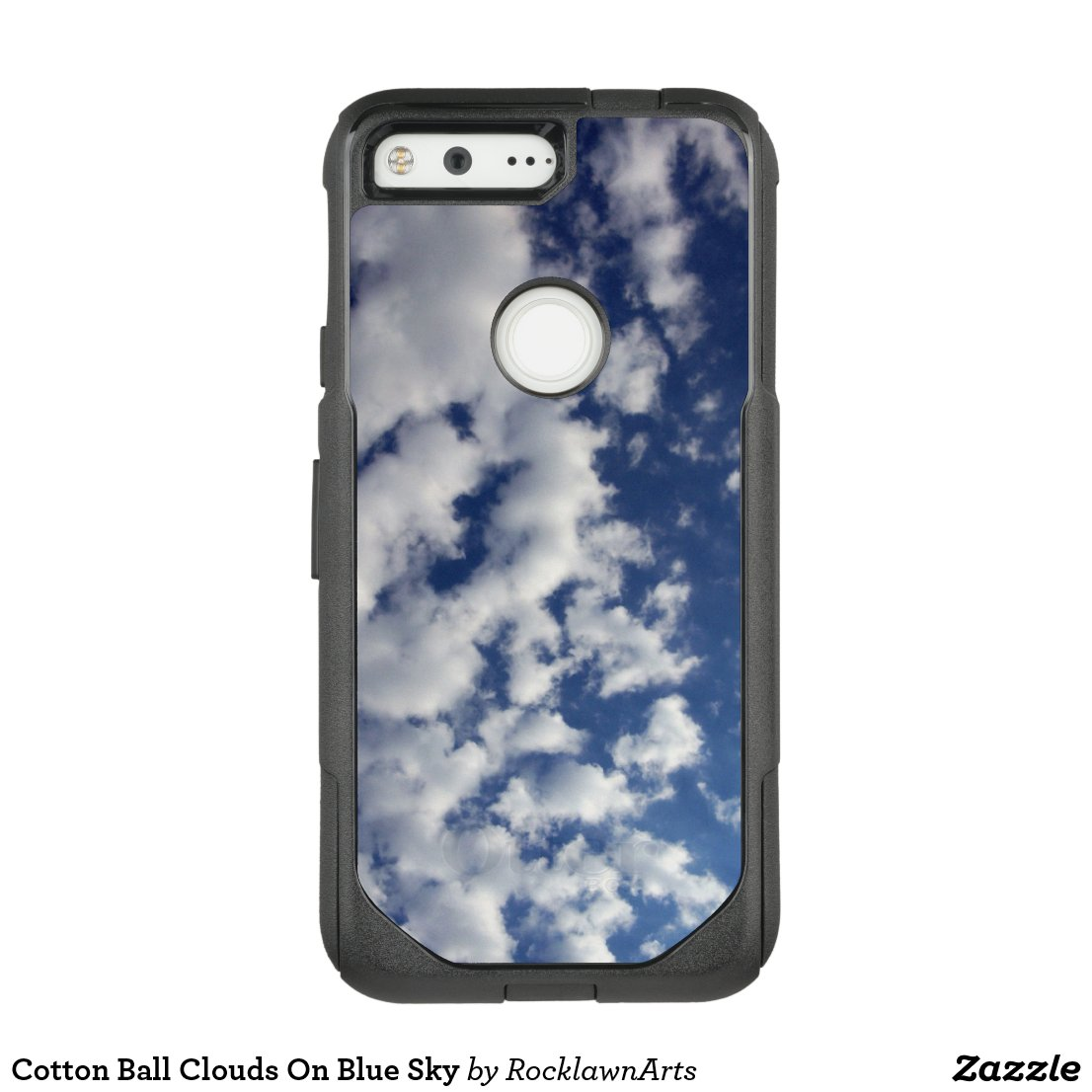 Cotton Ball Clouds On Blue Sky OtterBox Commuter Google Pixel Case
