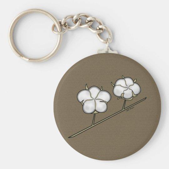 Cotton Boll Keychain