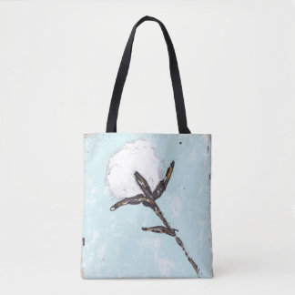 Cotton Boll Tote Bag