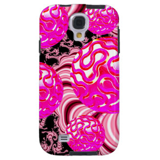 Cotton Candy, Abstract Fractal Pink Rose White Galaxy S4 Case
