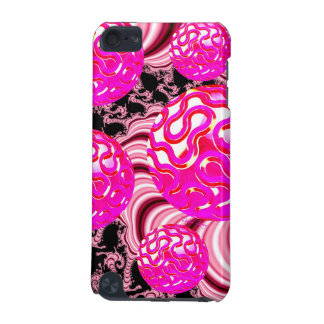 Cotton Candy, Abstract Fractal Pink Rose White iPod Touch 5G Cover