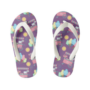5b70fc2e2 Cotton Candy All Over Print Candy Carnival Fair Kid s Flip Flops