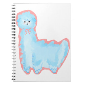 Cotton Candy Alpaca Spiral Note Book