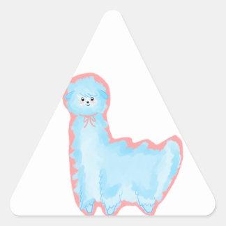 Cotton Candy Alpaca Triangle Sticker