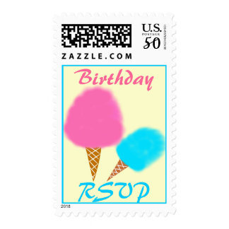 Cotton Candy Birthday Postage