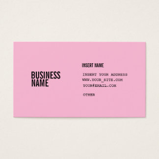 Cotton Candy Black Condensed Fonts Business Card