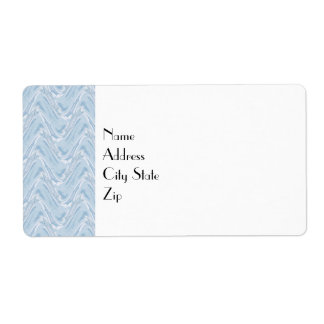 Cotton Candy Blue Abstract Label