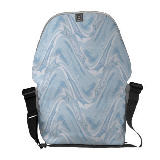 Cotton Candy Blue Abstract Messenger Bag
