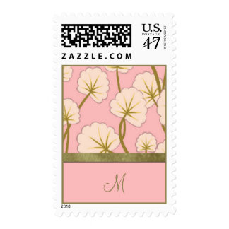 Cotton Candy Bouquet Monogram Postage
