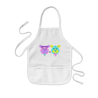 cotton candy bunny kids' apron