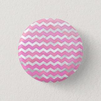 Cotton Candy Chevon Pattern Button
