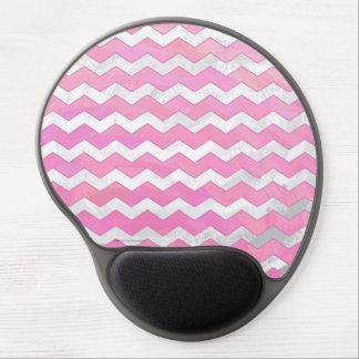 Cotton Candy Chevon Pattern Gel Mouse Pad