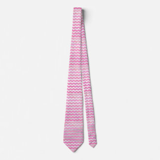 Cotton Candy Chevon Pattern Neck Tie