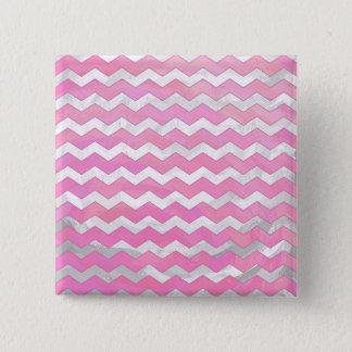 Cotton Candy Chevon Pattern Pinback Button