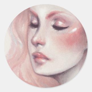 Cotton Candy Classic Round Sticker