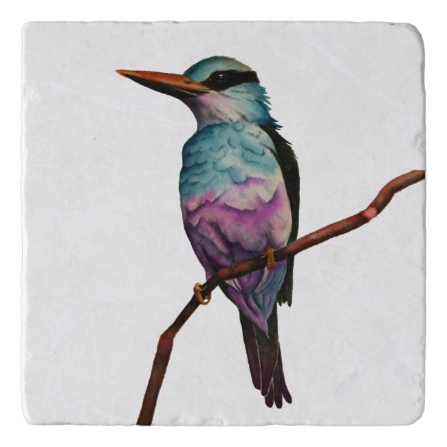 Cotton Candy Color Bird Painting