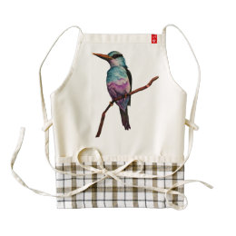Cotton Candy Color Bird Painting Zazzle HEART Apron