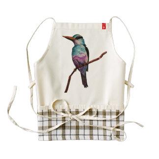 Cotton Candy Color Bird Painting Zazzle HEART Apron