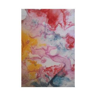 Cotton candy colors canvas print