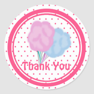 Cotton Candy Dots Round Stickers
