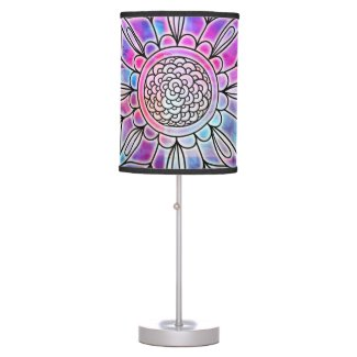 Cotton Candy Glow Mandala Lamp