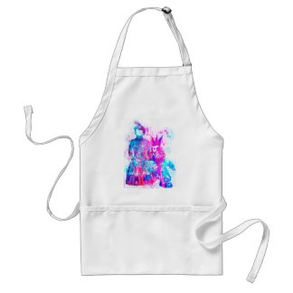 Cotton Candy Goth Girl and Punk Dude Adult Apron
