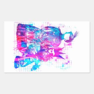 Cotton Candy Goth Girl and Punk Dude Rectangular Sticker