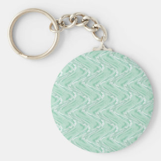 Cotton Candy Green Abstract Basic Round Button Keychain